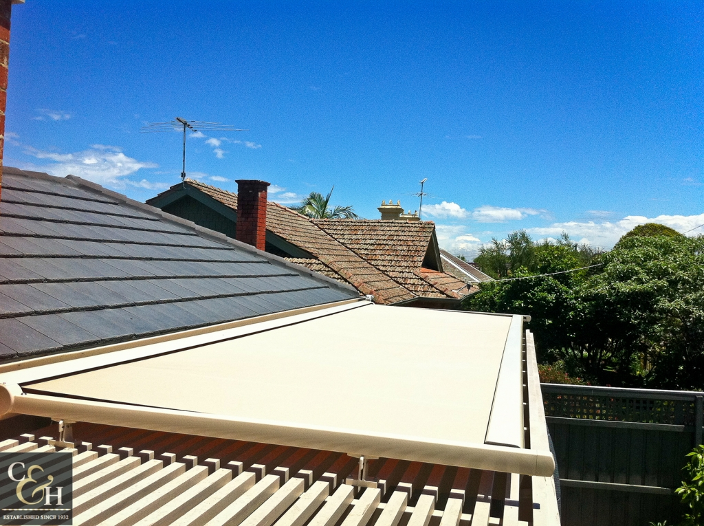 Overhead Retractable Awnings S12