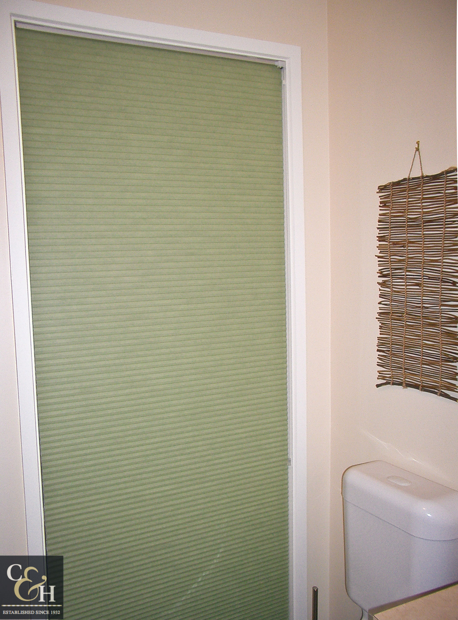 Honeycomb blinds 3 in a bathroom