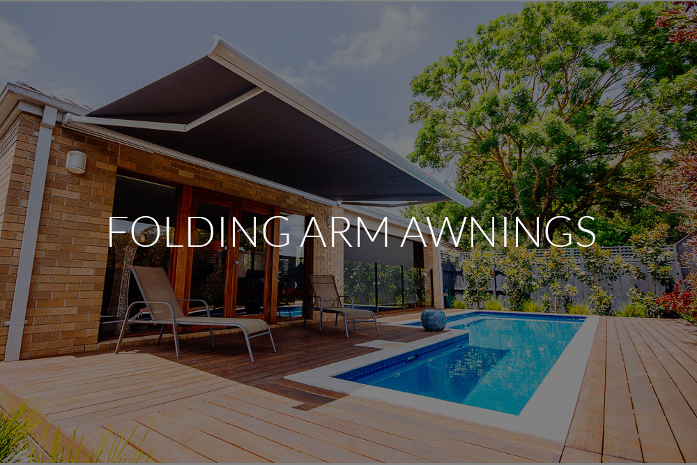 Folding-Arm-Awnings 1.1 over a pool