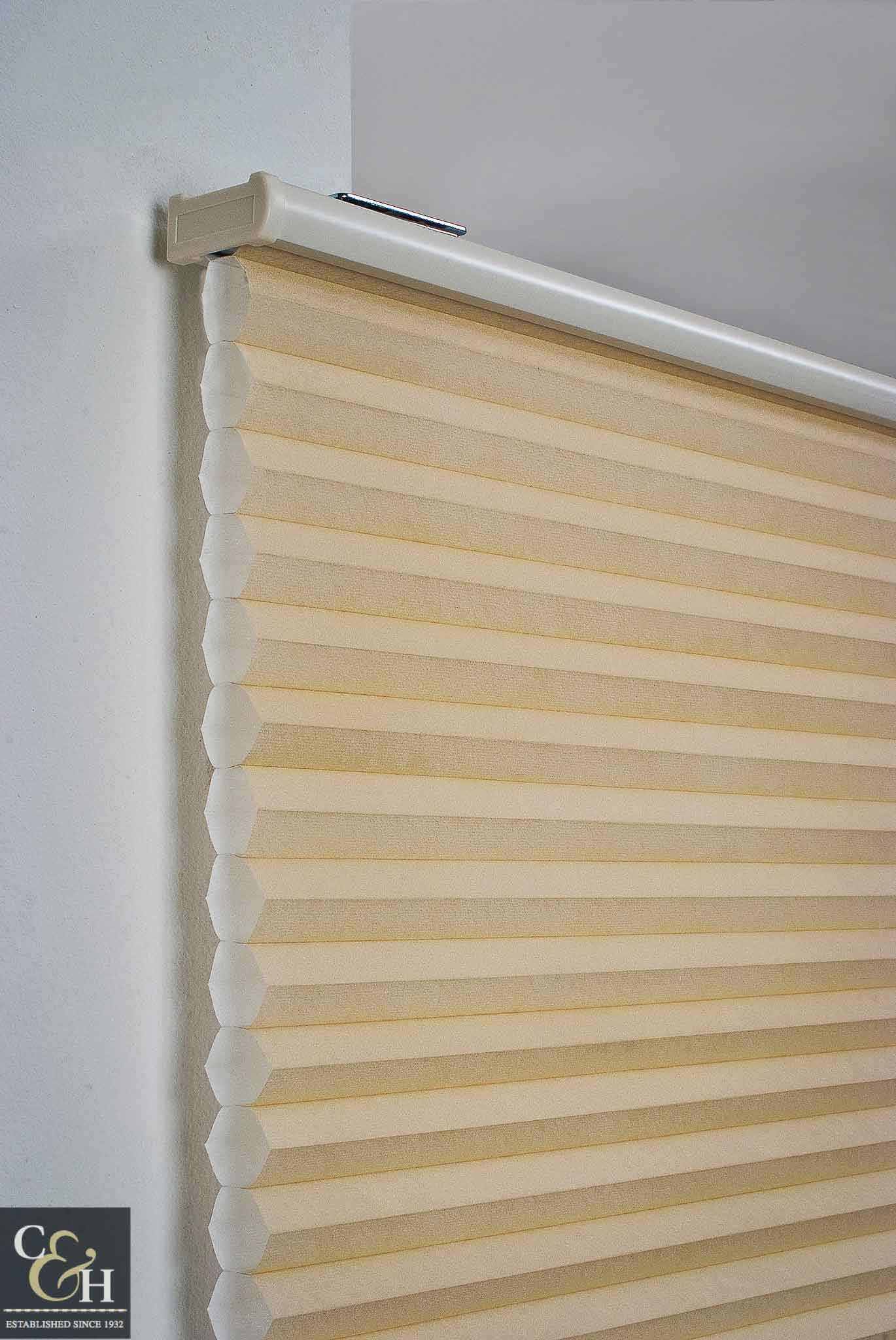 cellular honeycomb blinds 13 in a building