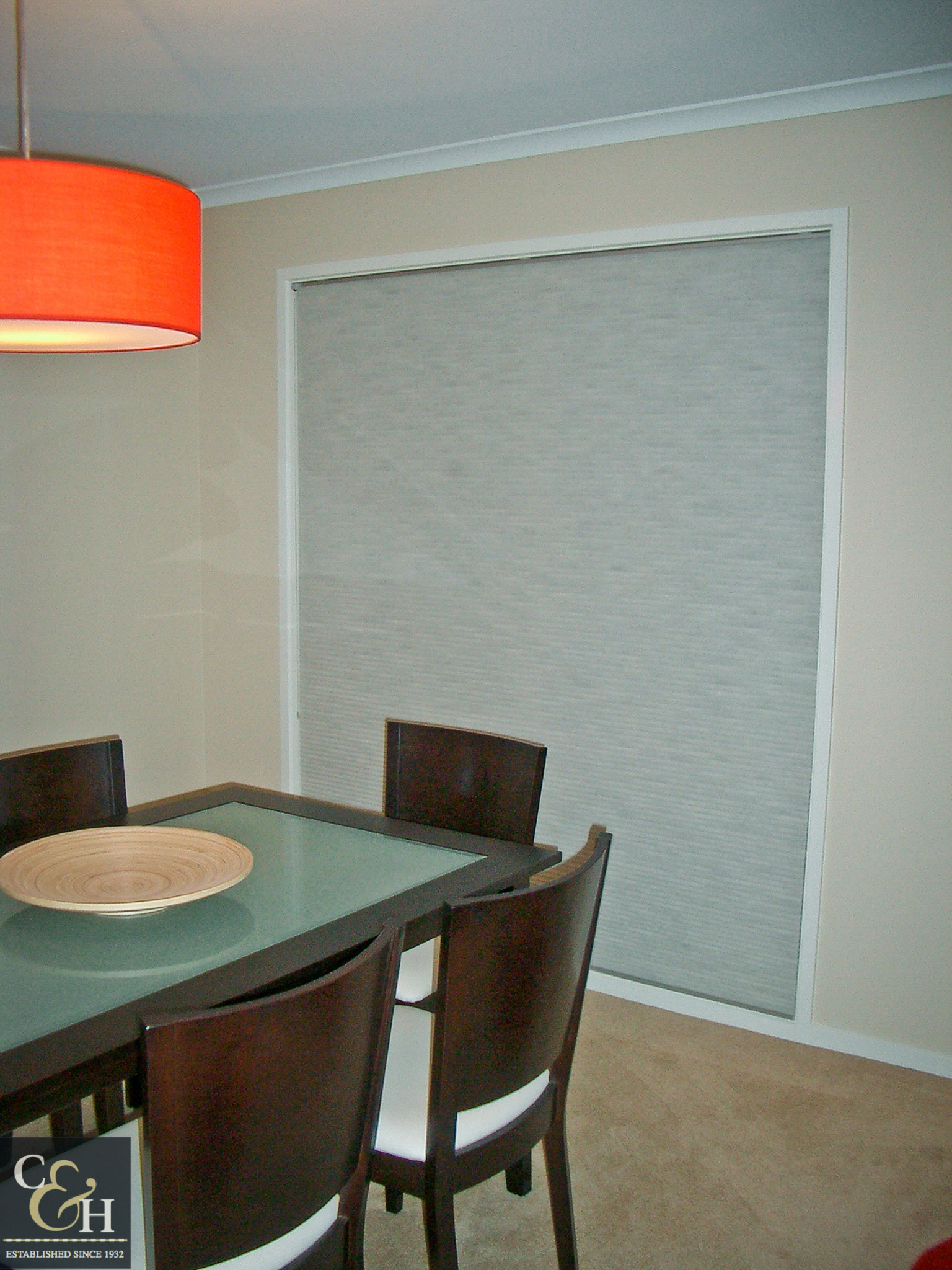 Honeycomb blinds 2 in a bathroom