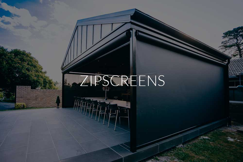 Zipscreen Blinds Black
