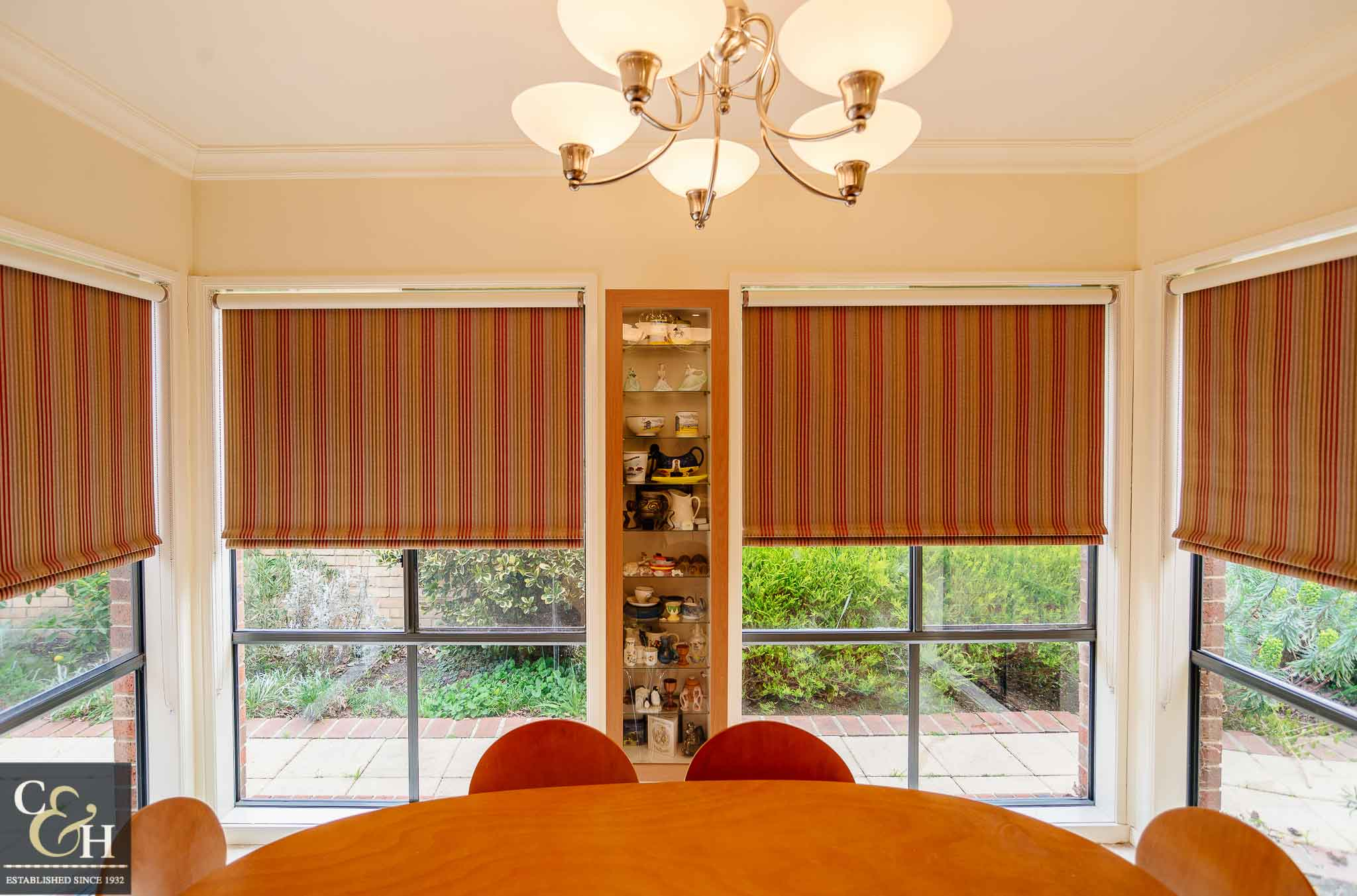 Bonded roller blinds 4.5 inside a house