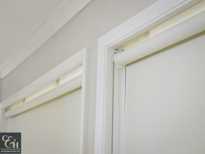 Block Out Roller Blinds chain mechanism off white